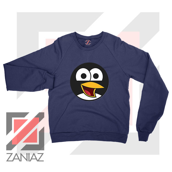 Angry Tux The Penguin Navy Blue Sweater