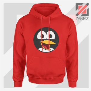 Angry Tux The Penguin Red Hoodie