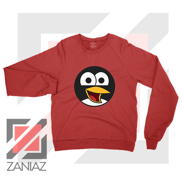 Angry Tux The Penguin Red Sweater