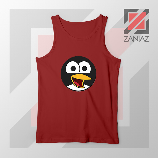 Angry Tux The Penguin Red Tank Top