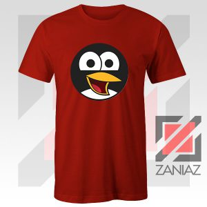 Angry Tux The Penguin Red Tshirt