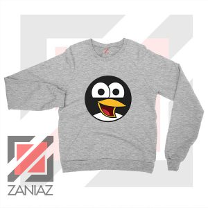Angry Tux The Penguin Sport Grey Sweater
