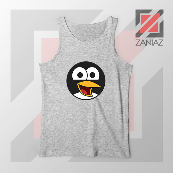Angry Tux The Penguin Sport Grey Tank Top