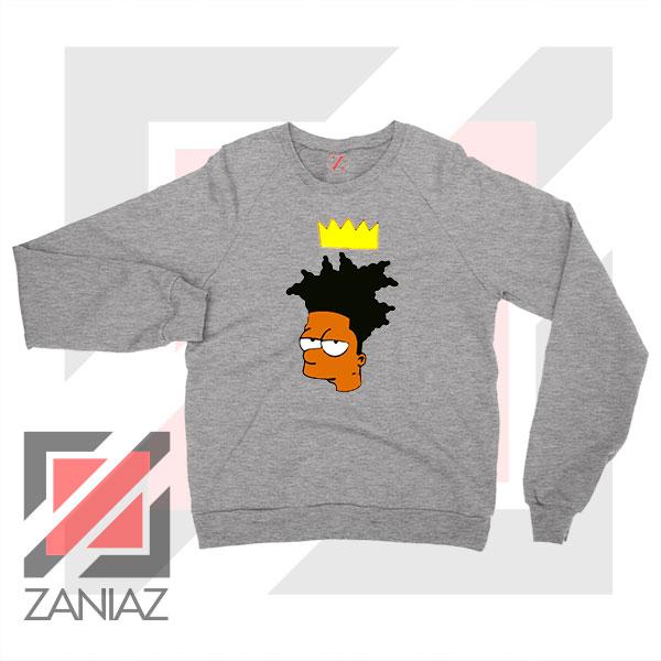 Bartsquiat Simpson 80s Artist Grey Sweatshirt