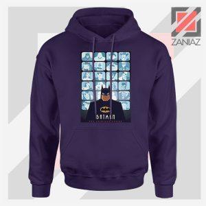 Batman Eyes On Gotham Navy Blue Hoodie