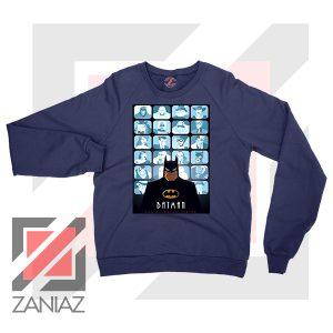 Batman Eyes On Gotham Navy Blue Sweatshirt