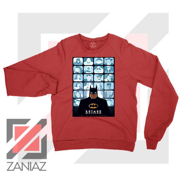 Batman Eyes On Gotham Red Sweatshirt