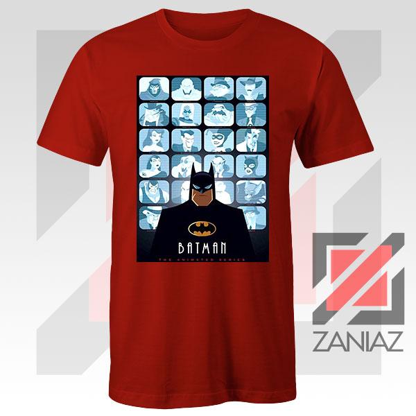 Batman Eyes On Gotham Red Tshirt