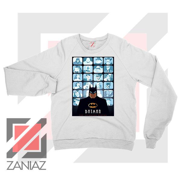 Batman Eyes On Gotham White Sweatshirt