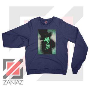 Best Marilyn Manson Graphic Navy Blue Sweatshirt