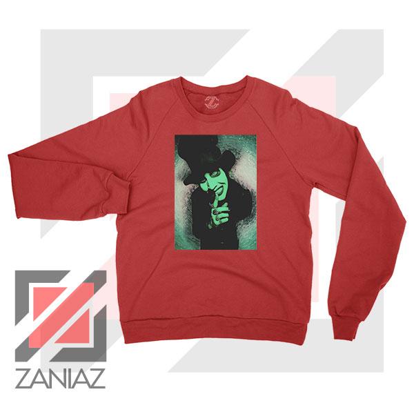 Best Marilyn Manson Graphic Red Sweatshirt