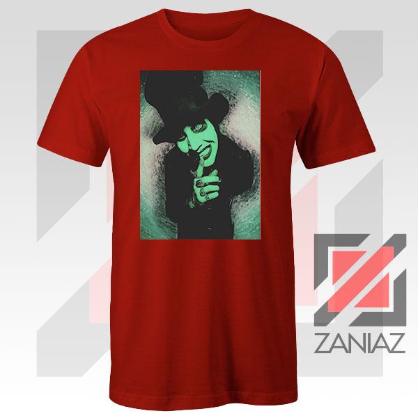 Best Marilyn Manson Graphic Red Tshirt