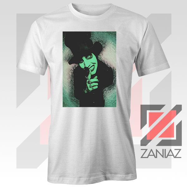 Best Marilyn Manson Graphic White Tshirt