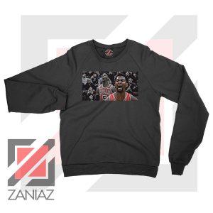 Bobby Portis Bull 5 Design Black Sweater