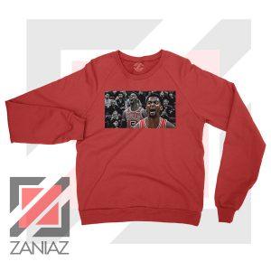 Bobby Portis Bull 5 Design Red Sweater