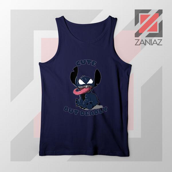 Cute Stitch Venom Deadly Best Navy Blue Tank Top