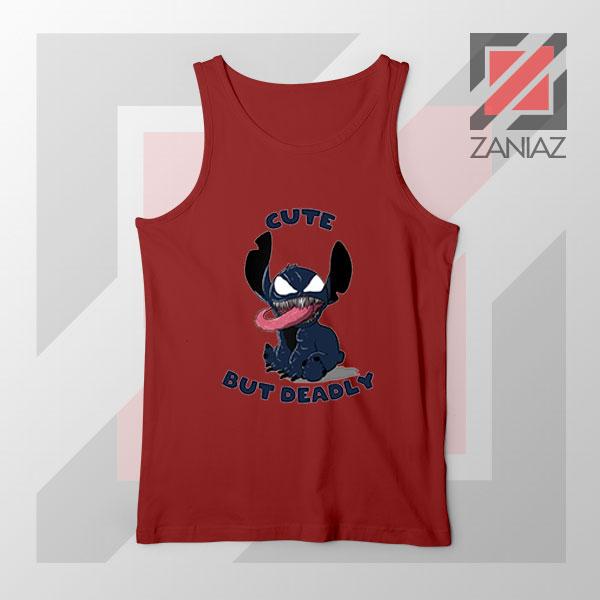 Cute Stitch Venom Deadly Best Red Tank Top
