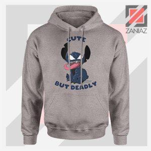 Cute Stitch Venom Deadly Design Grey Hoodie