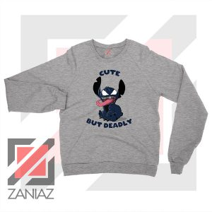 Cute Stitch Venom Deadly Graphic Sport Grey Sweater