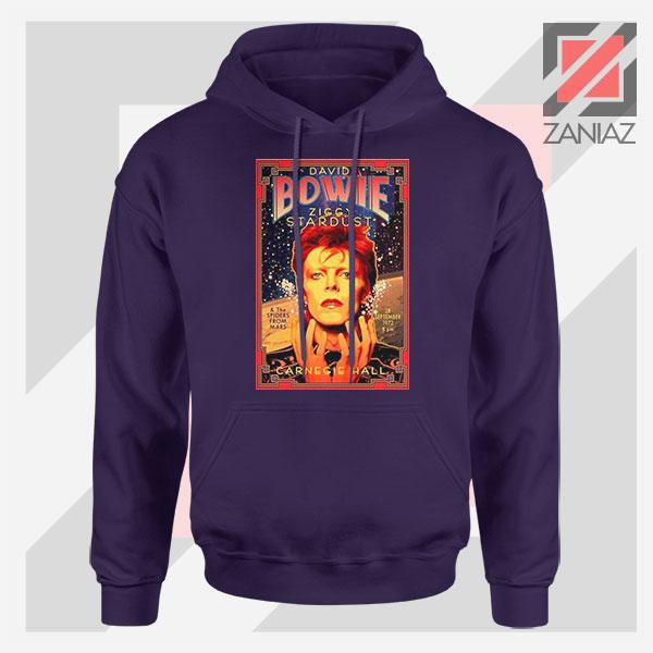 David Bowie Carnegie Halls Navy Blue Hoodie