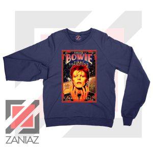 David Bowie Carnegie Halls Navy Blue Sweatshirt