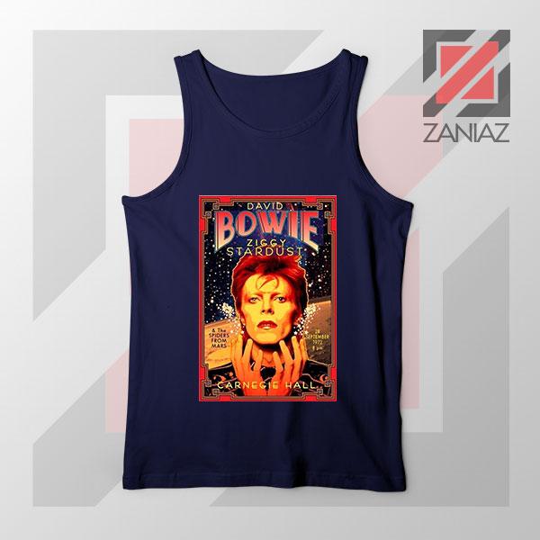 David Bowie Carnegie Halls Navy Blue Tank Top