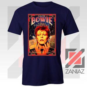 David Bowie Carnegie Halls Navy Blue Tshirt