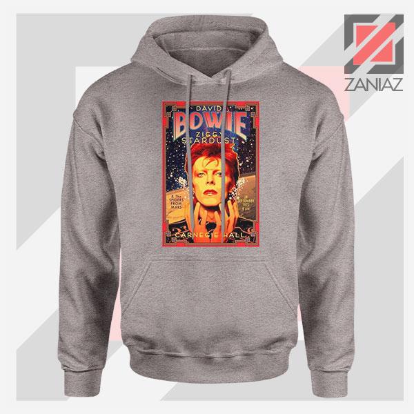 David Bowie Carnegie Halls Sport Grey Hoodie