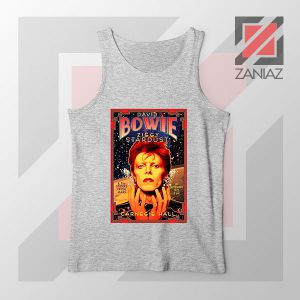 David Bowie Carnegie Halls Sport Grey Tank Top