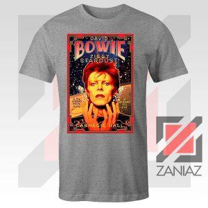 David Bowie Carnegie Halls Sport Grey Tshirt