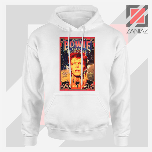 David Bowie Carnegie Halls White Hoodie