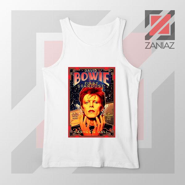 David Bowie Carnegie Halls White Tank Top