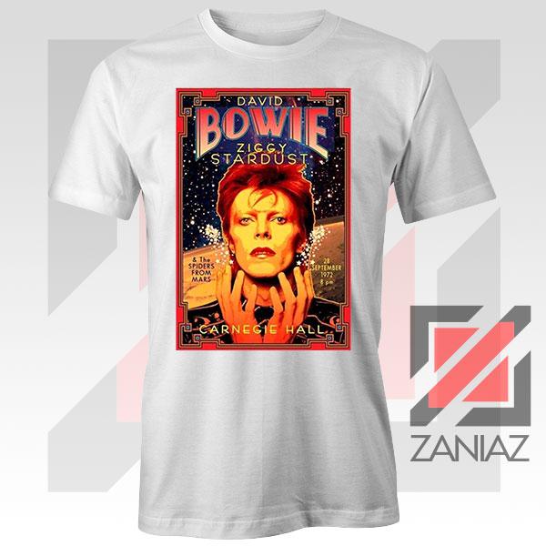 David Bowie Carnegie Halls White Tshirt