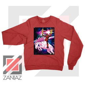 Deadpool X Men Taco Unicorn Red Sweatshirt