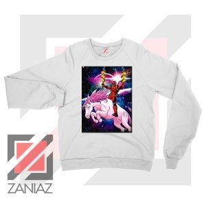 Deadpool X Men Taco Unicorn White Sweatshirt