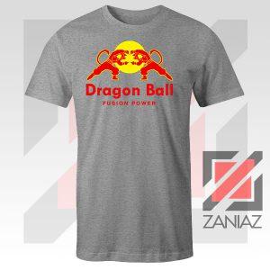 Dragon Ball Red Bull Logo Fusion Power Grey Tee