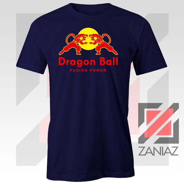 Dragon Ball Red Bull Logo Fusion Power Navy Blue Tee