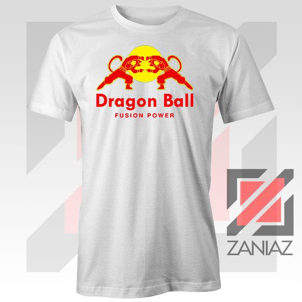 Dragon Ball Red Bull Logo Fusion Power White Tee