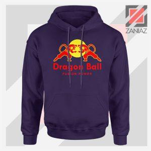 Dragon Ball Red Bull Logo Graphic Navy Blue Hoodie