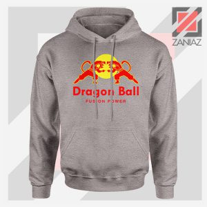 Dragon Ball Red Bull Logo Graphic Sport Grey Hoodie