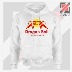 Dragon Ball Red Bull Logo Graphic White Hoodie