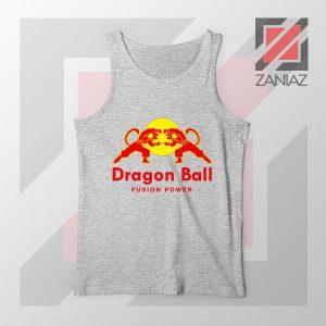 Dragon Ball Red Bull Logo New Grey Tank Top