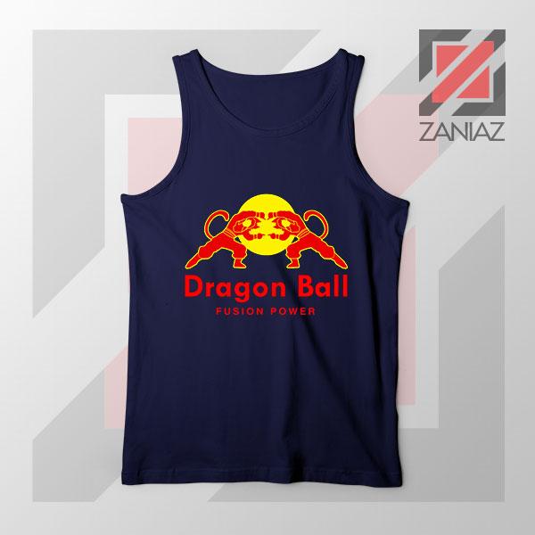 Dragon Ball Red Bull Logo New Navy Blue Tank Top