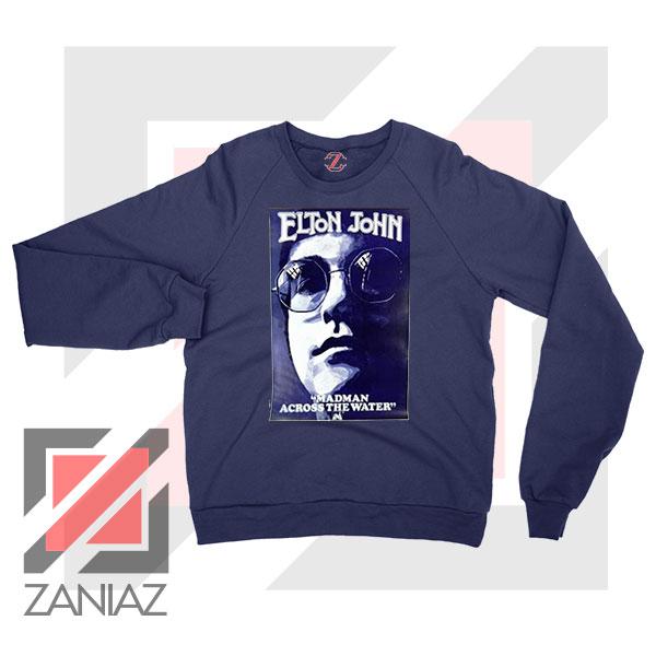 Elton John Fourth Album Poster Navy Blue Sweatshirt