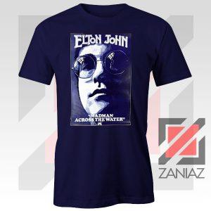 Elton John Poster Singer Navy Blue Tshirt