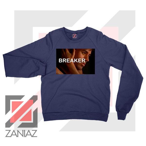 Enrique Iglesias Breaker Navy Blue Sweatshirt