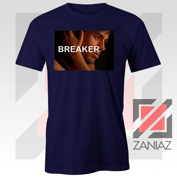Enrique Iglesias Breaker Navy Blue Tshirt