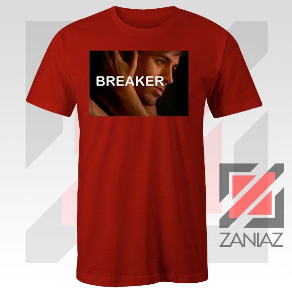 Enrique Iglesias Breaker Red Tshirt