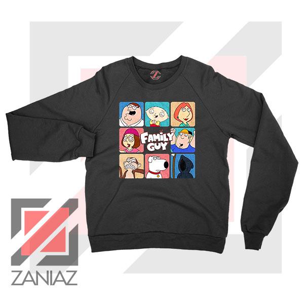Family Guy Animated Face Grid Sweatshirt