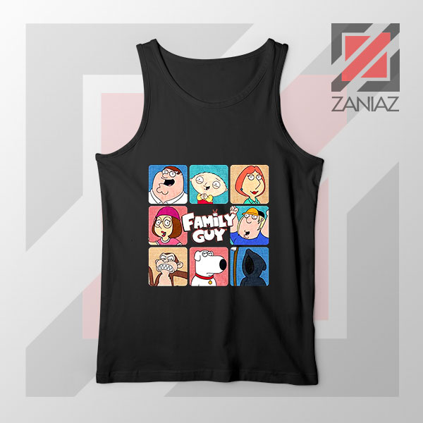 Family Guy Animated Face Grid Tank Top